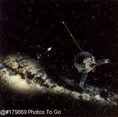 Pioneer 10 & Milky Way